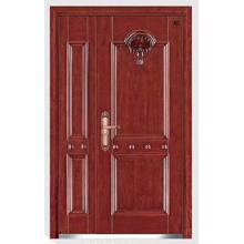 Puerta de seguridad interior de madera de acero