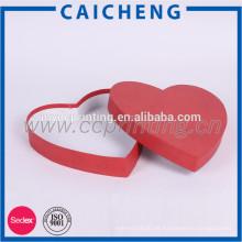 cajas de empaquetado del regalo del papel de chocolate de la forma del corazón
