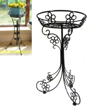 Home Handicraft Decoration Metal Single Ground Flowerpot Holder