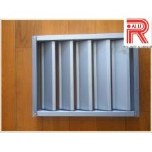 Perfil de liga de alumínio / alumínio para instalação de janela e parede cortina (RAL-593)