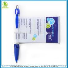 Alta calidad barata saca bolígrafo pen/promotional banner pluma/publicidad regalo plástico de la pluma