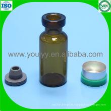 Vial de vidrio de 3 ml con tapón de goma y tapa