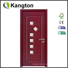Nueva puerta de PVC modelo de 6 mm con vidrio (puerta de vidrio de PVC)