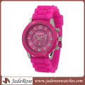 Pink Strap and Dial Fashion Ladies Silicone Watch