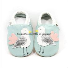 Zapatos de bebé de interior de cuero para niños pequeños 01