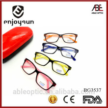 2015 milky color double colors fashion design acetate hand made spectacles optical frames eyewear eyeglasses