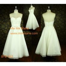 Último simples querido A linha strapless China feito sob encomenda A-line vestido de casamento curto BYB-663