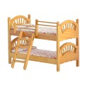 Vintage dollhouse furniture bed in wooden