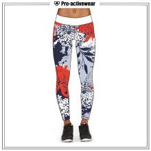 Las muchachas al por mayor de la alta calidad que usan las polainas de los pantalones de la yoga