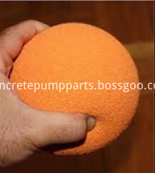 hard concrete pump cleaning ball