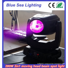 stage light 10r 280 beam spot 3in1 China moving head beam light