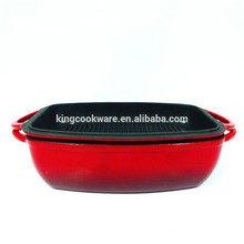 Cast Iron Lasagna pot with grill cover