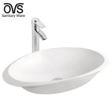lavabo de arte de lavabo de cerámica blanco lavabo