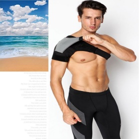 Compression one side shoulder brace support