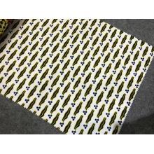 Tissu d'impression de cire pour vêtements en polyester