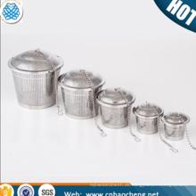 Edelstahl feinmaschige Filterung Teekanne Zylinder Tee-Ei