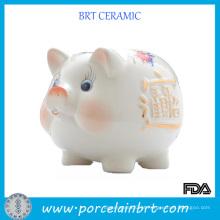 Presente cerâmico da promoção do banco de moeda do mealheiro
