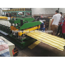 China Quality Cheap Roof Panel Roll Forming Machine , Steel Metal Roof Sheet Tile Roll Forming Making Machine