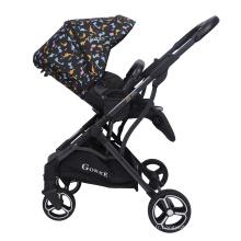 Luxe léger pliable 3 en 1 en ligne Hot Mom Kids Baby Poussettes Marcheurs
