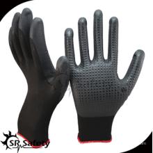 SRSAFETY дешевая цена / пенная нитриловая рабочая перчатка с точками на пальмовых / ручных перчатках