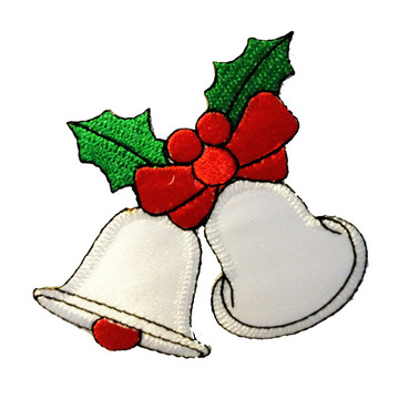 Classic Christmas Sleigh Embroidered Patches On Cloth