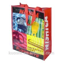 uso de la promoción pp bolsas de reciclaje tejidas
