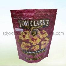 Snack Verwenden Sie und akzeptieren Sie Custom Orderstand Kunststoff-Verpackung Beutel / Tasche