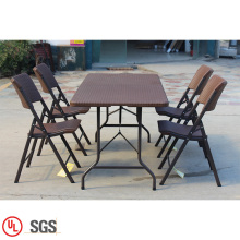 outdoor rattan chair  garden table plastic sets