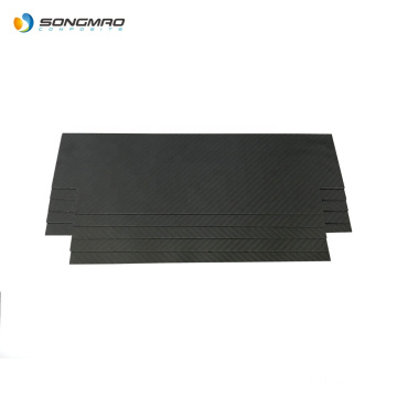 high quality customized dimension and thickness 1mm 2mm carbon fiber panel