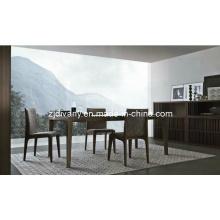 Estilo italiano da sala de jantar mesa de jantar de madeira (E-25)