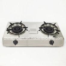Double brûleur # 120 * # 120 Cuisinière à gaz laiton