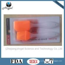 Инструмент для выпечки силикона 2шт Мини-шпатель и кисточка с молочной ручкой PP Sb09b