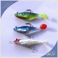 SLL007 8cm 14.5g leurre de pêche d'alose molle avec appât doux de plomb de gabarit