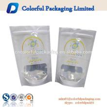 lebensmittelecht aluminiumfolie wiederverschließbare verpackung taschen druck mit logo