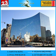 Commercial and Residential 5+9A+5mm Curtain Double Glass Building Wall Glass with AS/NZS2208: 1996