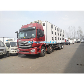 Foton 8x4 chiller refrigerated box truck