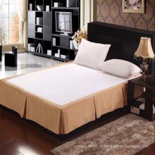 100% poliéster Hotel bordado cama saia (DPH6099)