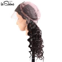 Precio barato para 100 pelucas llenas del cordón del color natural brasileño para las mujeres negras Base ligera de seda del densidad del 130%