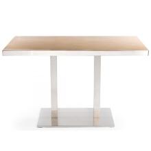 Mesas de comedor de restaurante de madera cuadradas modernas con tapa de HPL