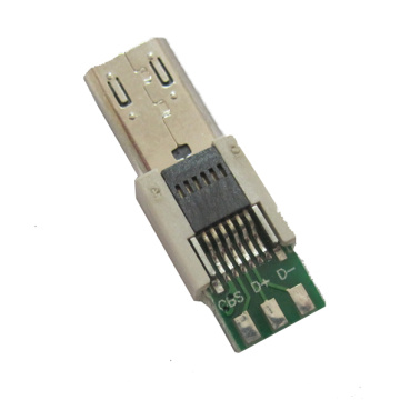 MICRO USB 11P STECKER STRADDLE