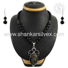 Ensemble de bijoux en argent multi-pierres scrupuleux bijoux en argent sterling 925 bijoux en gros