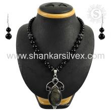 Scrumptious multi gemstone jóias de prata conjunto 925 jóias de prata esterlina jóias por atacado