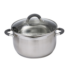 Stainless Steel Soup Pot with Glass Cover