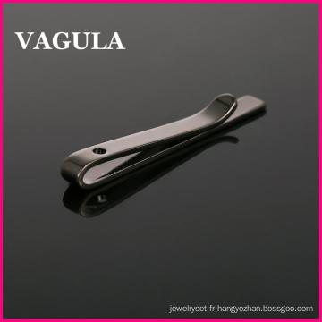 VAGULA haute qualité cravatte laiton goupille Gun Black Tie cravate (HL10204)