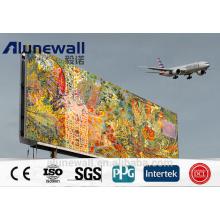 Impresión digital / publicitaria del panel compuesto de aluminio del color blanco de los 3M 4m m 3m m 4m m