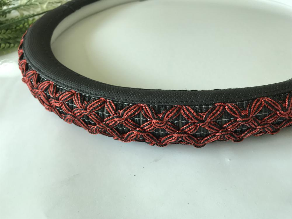 car flax fiber steering wheel cover
