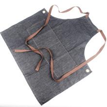 KEFEI topsale al por mayor de mezclilla babero delantal con bolsillos, delantal de mezclilla