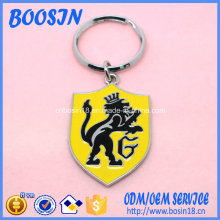Custom promocionais Metal Badge Keychain para Atacado