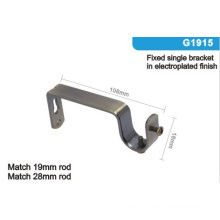 G1915 Single Metal Home Decoration Curtain Rod Wall Brackets