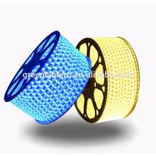 Tira impermeável 60leds / m da luz do diodo emissor de luz da CA 220V de SMD5050 IP67 / m 4.4W / meter com tomada de poder